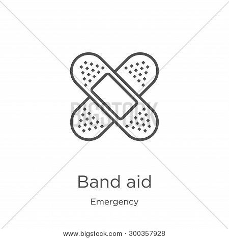 Band Aid Icon Isolated On White Background From Emergency Collection. Band Aid Icon Trendy And Moder