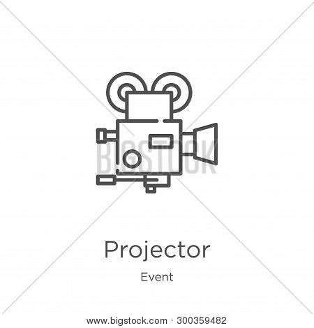 Projector Icon Isolated On White Background From Event Collection. Projector Icon Trendy And Modern