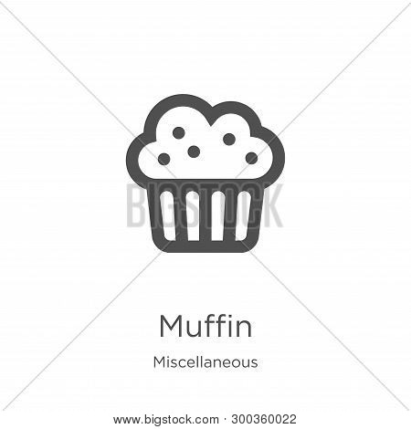 Muffin Icon Isolated On White Background From Miscellaneous Collection. Muffin Icon Trendy And Moder