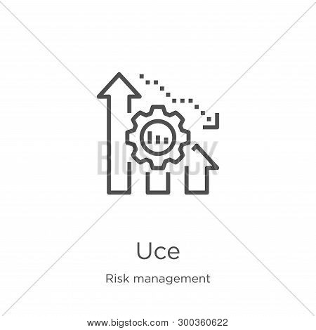 Reduce Icon Isolated On White Background From Risk Management Collection. Reduce Icon Trendy And Mod