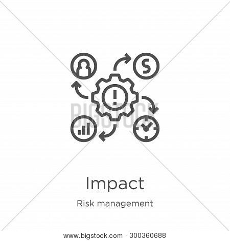 Impact Icon Isolated On White Background From Risk Management Collection. Impact Icon Trendy And Mod