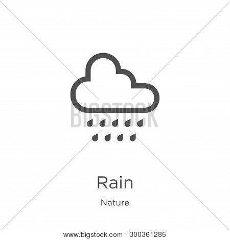 Rain Icon Isolated On White Background From Nature Collection. Rain Icon Trendy And Modern Rain Symb