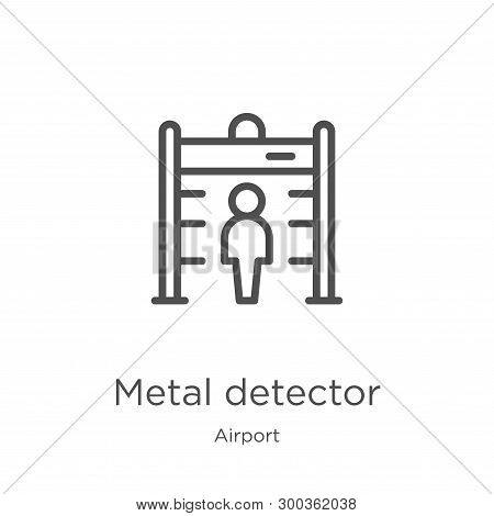Metal Detector Icon Isolated On White Background From Airport Collection. Metal Detector Icon Trendy