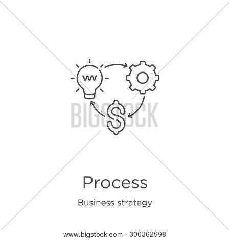 Process Icon Isolated On White Background From Business Strategy Collection. Process Icon Trendy And