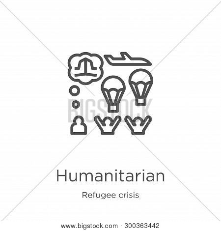 Humanitarian Icon Isolated On White Background From Refugee Crisis Collection. Humanitarian Icon Tre