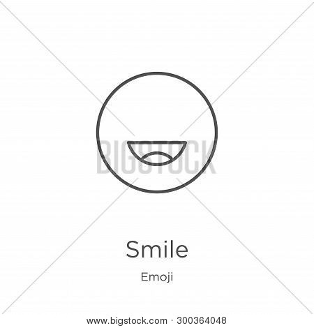 Smile Icon Isolated On White Background From Emoji Collection. Smile Icon Trendy And Modern Smile Sy
