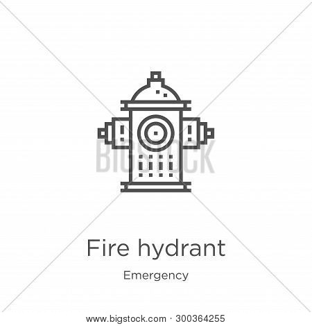 Fire Hydrant Icon Isolated On White Background From Emergency Collection. Fire Hydrant Icon Trendy A