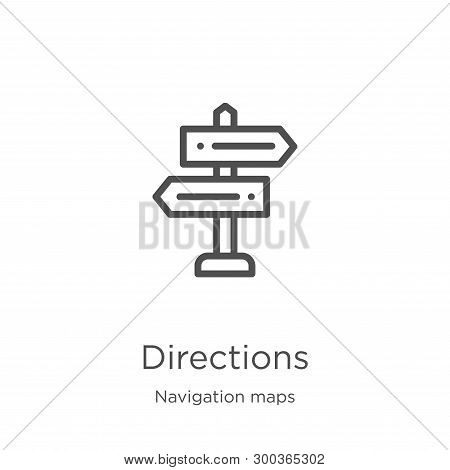 Directions Icon Isolated On White Background From Navigation Maps Collection. Directions Icon Trendy