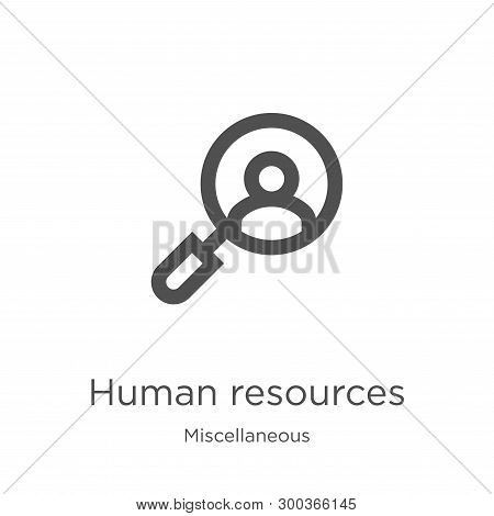 Human Resources Icon Isolated On White Background From Miscellaneous Collection. Human Resources Ico