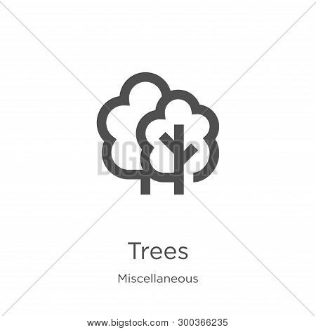 Trees Icon Isolated On White Background From Miscellaneous Collection. Trees Icon Trendy And Modern