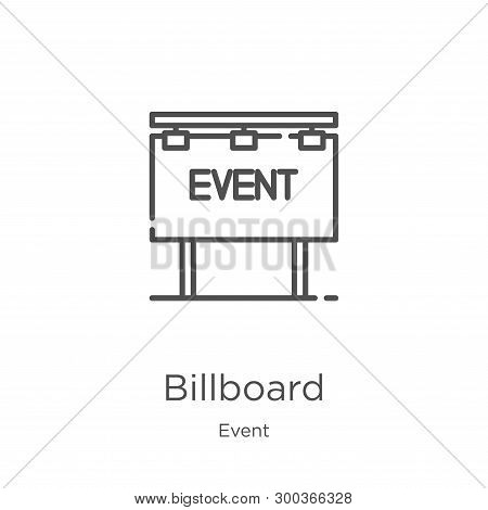 Billboard Icon Isolated On White Background From Event Collection. Billboard Icon Trendy And Modern