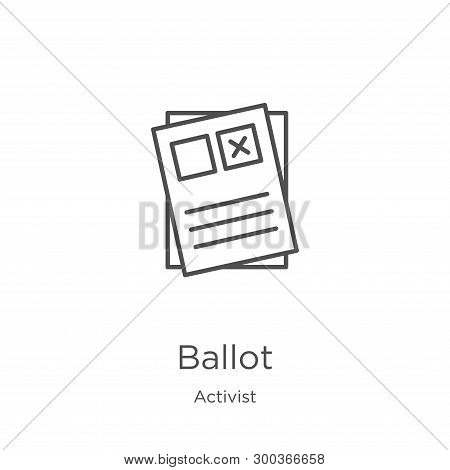 Ballot Icon Isolated On White Background From Activist Collection. Ballot Icon Trendy And Modern Bal
