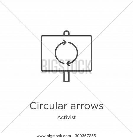 Circular Arrows Icon Isolated On White Background From Activist Collection. Circular Arrows Icon Tre