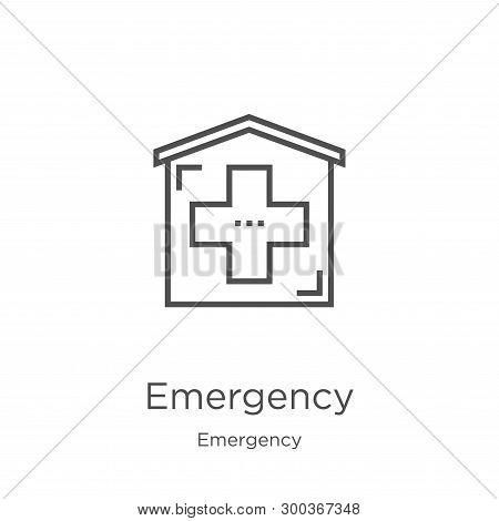 Emergency Icon Isolated On White Background From Emergency Collection. Emergency Icon Trendy And Mod
