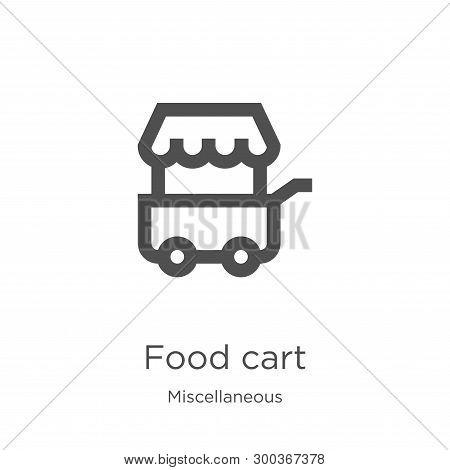 Food Cart Icon Isolated On White Background From Miscellaneous Collection. Food Cart Icon Trendy And
