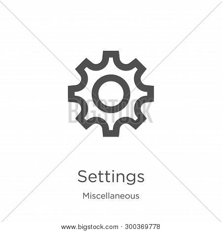 Settings Icon Isolated On White Background From Miscellaneous Collection. Settings Icon Trendy And M