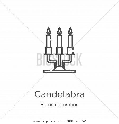 Candelabra Icon Isolated On White Background From Home Decoration Collection. Candelabra Icon Trendy