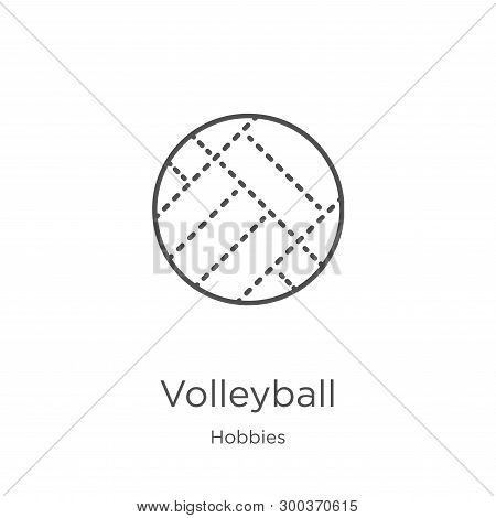 Volleyball Icon Isolated On White Background From Hobbies Collection. Volleyball Icon Trendy And Mod