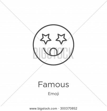 Famous Icon Isolated On White Background From Emoji Collection. Famous Icon Trendy And Modern Famous