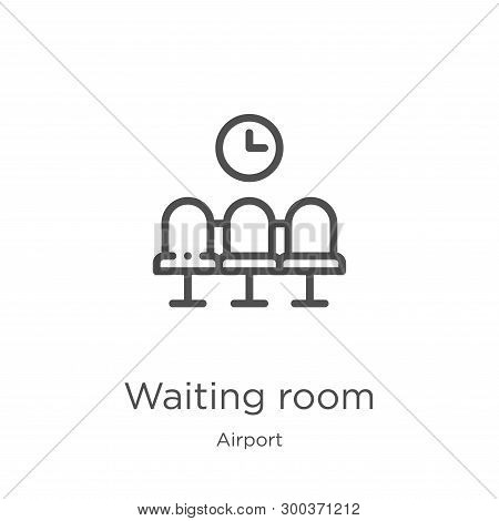 Waiting Room Icon Isolated On White Background From Airport Collection. Waiting Room Icon Trendy And
