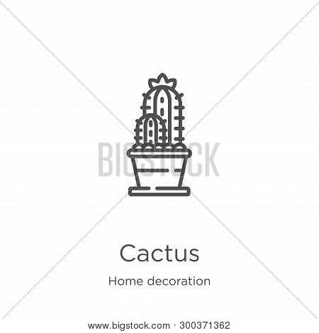 Cactus Icon Isolated On White Background From Home Decoration Collection. Cactus Icon Trendy And Mod