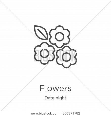 Flowers Icon Isolated On White Background From Date Night Collection. Flowers Icon Trendy And Modern