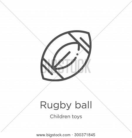 Rugby Ball Icon Isolated On White Background From Children Toys Collection. Rugby Ball Icon Trendy A
