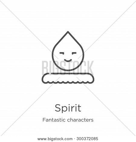 Spirit Icon Isolated On White Background From Fantastic Characters Collection. Spirit Icon Trendy An