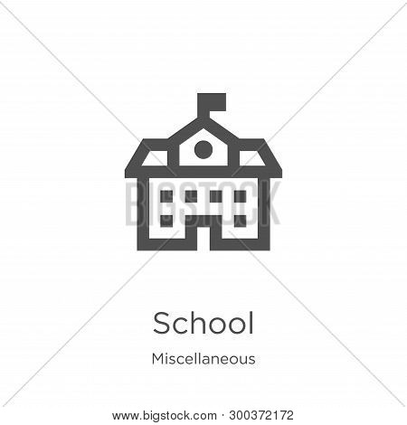School Icon Isolated On White Background From Miscellaneous Collection. School Icon Trendy And Moder
