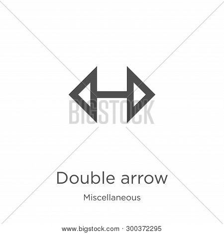 Double Arrow Icon Isolated On White Background From Miscellaneous Collection. Double Arrow Icon Tren
