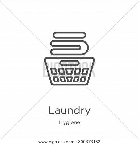 Laundry Icon Isolated On White Background From Hygiene Collection. Laundry Icon Trendy And Modern La