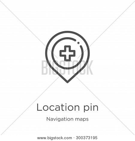 Location Pin Icon Isolated On White Background From Navigation Maps Collection. Location Pin Icon Tr