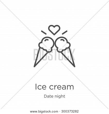 Ice Cream Icon Isolated On White Background From Date Night Collection. Ice Cream Icon Trendy And Mo