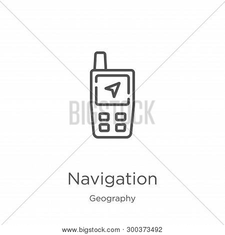 Navigation Icon Isolated On White Background From Geography Collection. Navigation Icon Trendy And M
