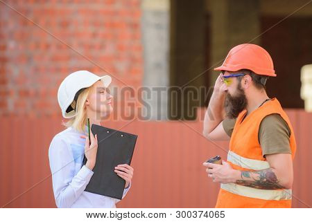 Construction Industry Concept. Relationships Construction Client And Participant Building Industry.
