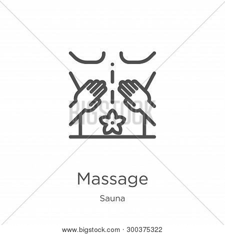 Massage Icon Isolated On White Background From Sauna Collection. Massage Icon Trendy And Modern Mass