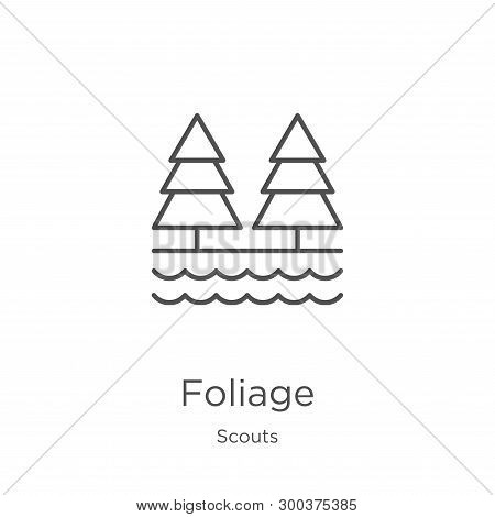 Foliage Icon Isolated On White Background From Scouts Collection. Foliage Icon Trendy And Modern Fol
