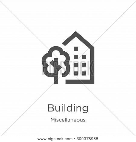 Building Icon Isolated On White Background From Miscellaneous Collection. Building Icon Trendy And M