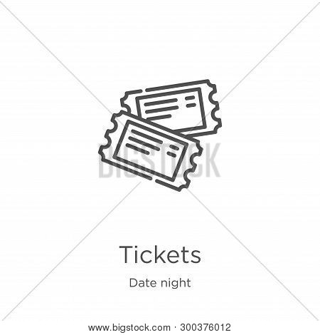 Tickets Icon Isolated On White Background From Date Night Collection. Tickets Icon Trendy And Modern