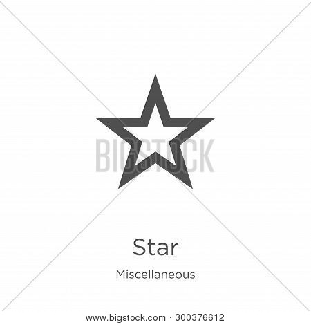 Star Icon Isolated On White Background From Miscellaneous Collection. Star Icon Trendy And Modern St
