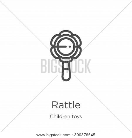 Rattle Icon Isolated On White Background From Children Toys Collection. Rattle Icon Trendy And Moder