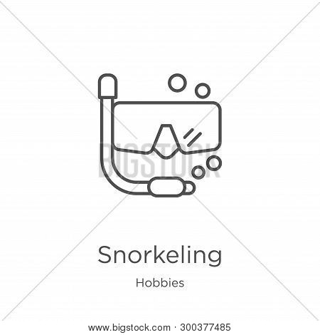 Snorkeling Icon Isolated On White Background From Hobbies Collection. Snorkeling Icon Trendy And Mod