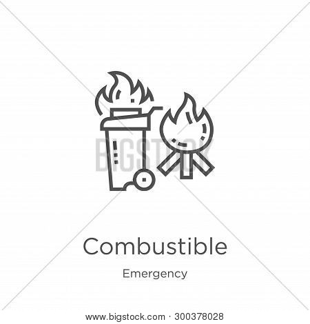 Combustible Icon Isolated On White Background From Emergency Collection. Combustible Icon Trendy And