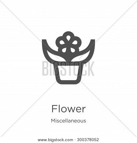 Flower Icon Isolated On White Background From Miscellaneous Collection. Flower Icon Trendy And Moder