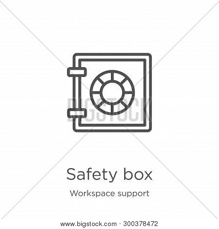 Safety Box Icon Isolated On White Background From Workspace Support Collection. Safety Box Icon Tren