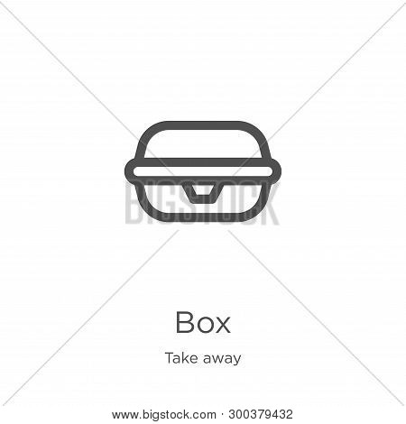 Box Icon Isolated On White Background From Take Away Collection. Box Icon Trendy And Modern Box Symb