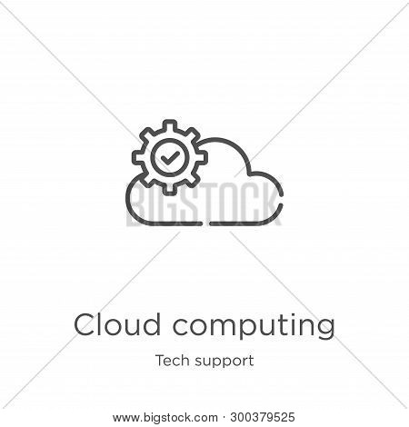 Cloud Computing Icon Isolated On White Background From Tech Support Collection. Cloud Computing Icon