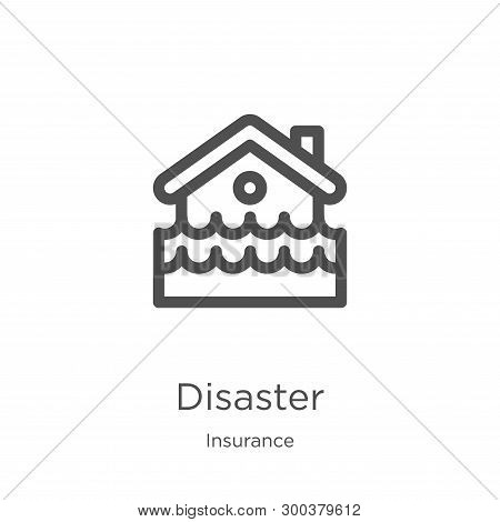 Disaster Icon Isolated On White Background From Insurance Collection. Disaster Icon Trendy And Moder