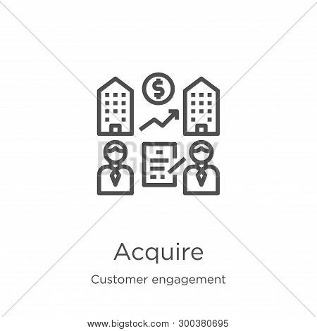 Acquire Icon Isolated On White Background From Customer Engagement Collection. Acquire Icon Trendy A