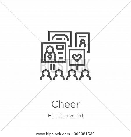 Cheer Icon Isolated On White Background From Election World Collection. Cheer Icon Trendy And Modern